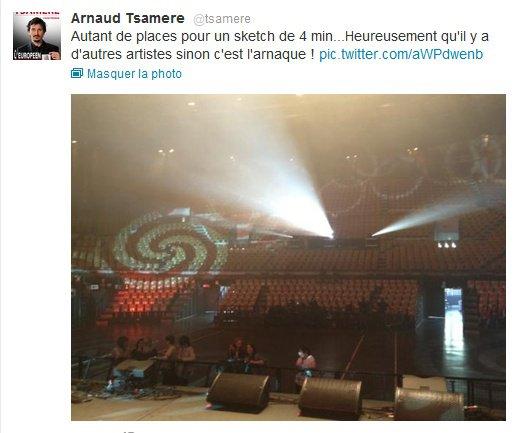 """Arnaud Tsamere était dans """"GALA HOULALA - le sketch le plus long du monde"""" le 26 Mars 2012 sur """"Comédie +"""""""