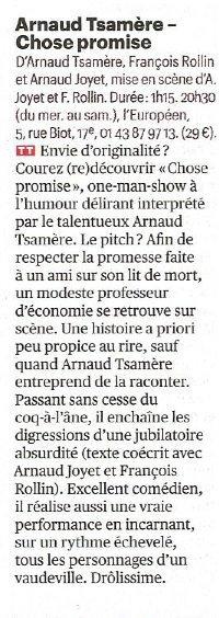 Arnaud Tsamere encore dans le Télérama Sortir