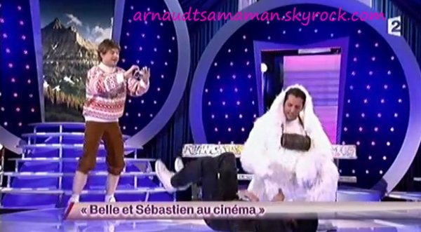 Arnaud en guest avec les Lascars Gays (Belle et Sébastien au cinéma)