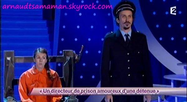 Arnaud Tsamere est passé dans le sketch de Jérémy Ferrari (Un directeur de prison amoureux d'une détenue)