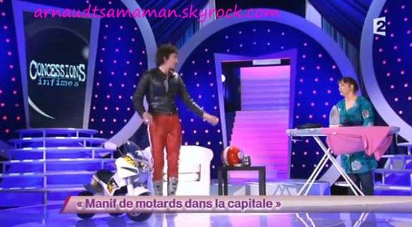 Manif de motards dans la capital (60ème passage d'Arnaud Tsamere)