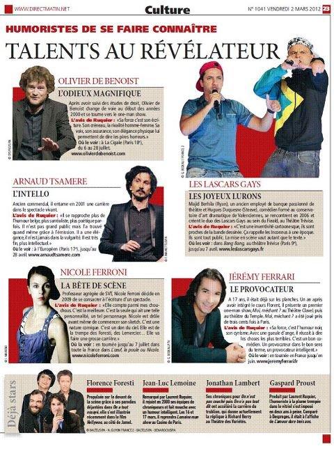 Arnaud Tsamere encore dans Direct Matin (vendredi 2 mars 2012)