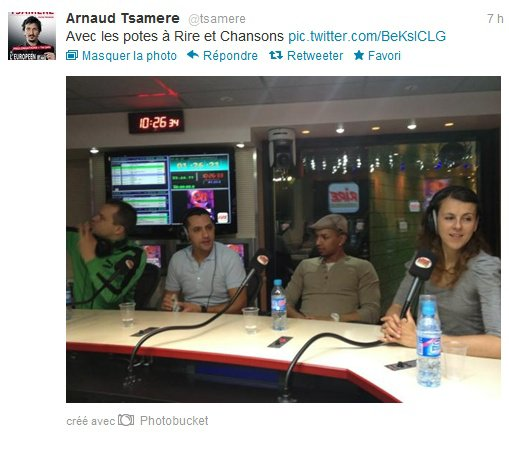 "Arnaud Tsamere dans la radio ""Rire et Chansons"""