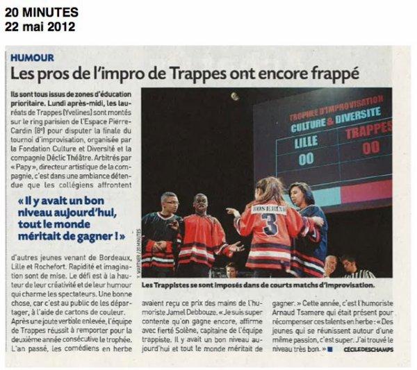 Arnaud Tsamere récompense des nouveaux talents d'improvisation