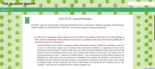 Interview intéressante d'Arnaud Tsamere