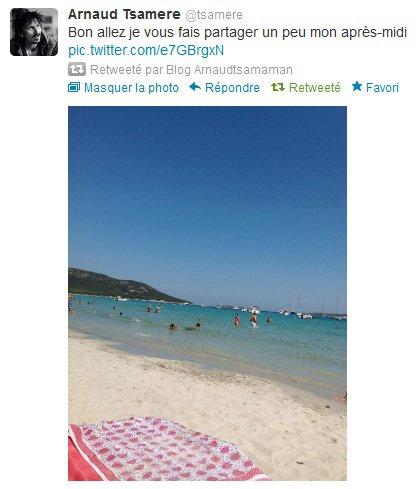 Arnaud Tsamere est encore en vacances (en Corse)!
