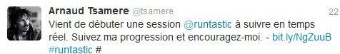 Arnaud Tsamere fait une session de runtastic!