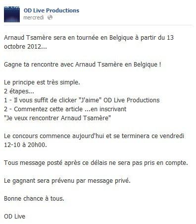 Gagnez une rencontre (en vrai) avec Arnaud Tsamere!!!!