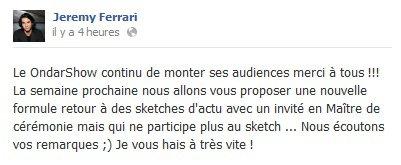 """La cinquième de """"ONDAR Show"""""""
