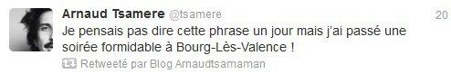 Arnaud Cosson et Artus se sont incrustés dans le spectacle de Tsamere...