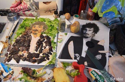 Exclusif!! Un portrait d'Arnaud Tsamere en nourriture!