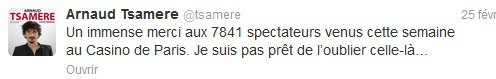 Arnaud Tsamere au Casino de Paris!!!