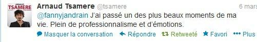 "Arnaud Tsamere en promo pour son DVD ""Chose Promise"""