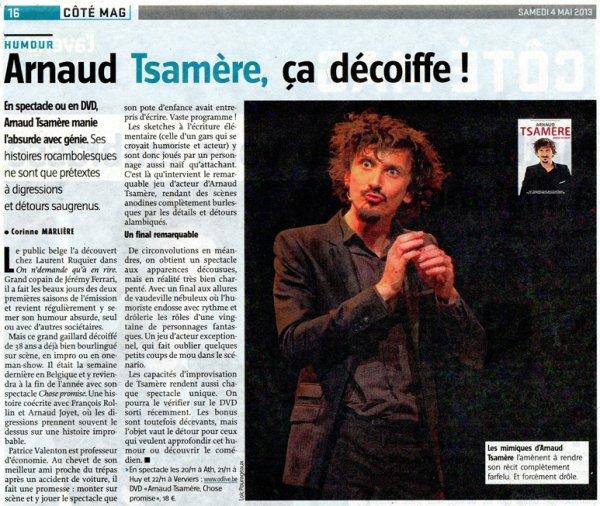 """Arnaud Tsamere dans """"L'avenir"""""""