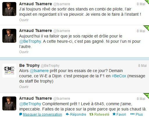 Arnaud Tsamere au Be Trophy 2013