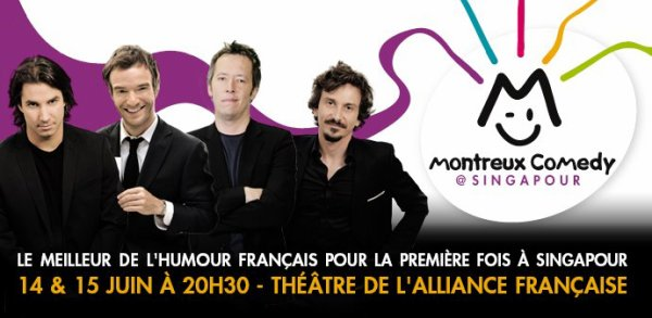 Arnaud Tsamere et Cie au Montreux Comedy Festival de Singapour