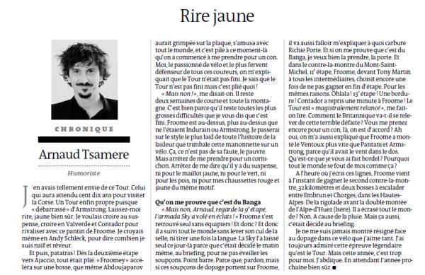 """3ème chronique d'Arnaud Tsamere dans le journal """"Le Monde"""""""