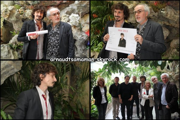 Arnaud Tsamere a enfin reçu le prix SACD du Nouveau Talent Humour de 2013