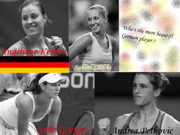 Les plus belles joueuses de leurs pays sur le court : Allemagne