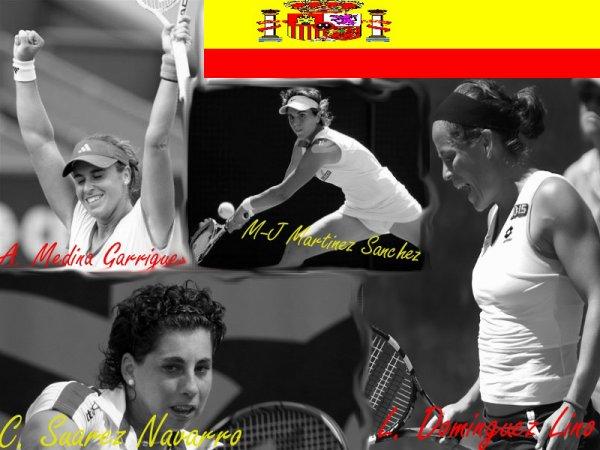 La plus belle joueuse Espagnole sur le court