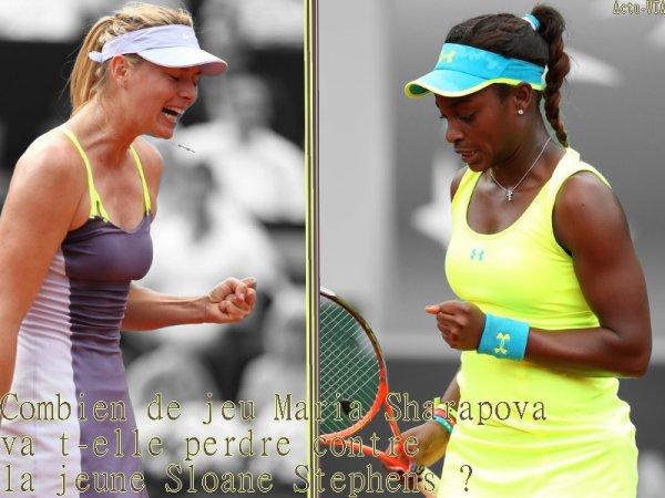 RG 2013 - Huitième de finale --> Lundi 3 Juin, qui rejoindra Serena Williams, Svetlana Kuznetsova, Sara Errani et Agnieszka Radwanska en quart de finale ?