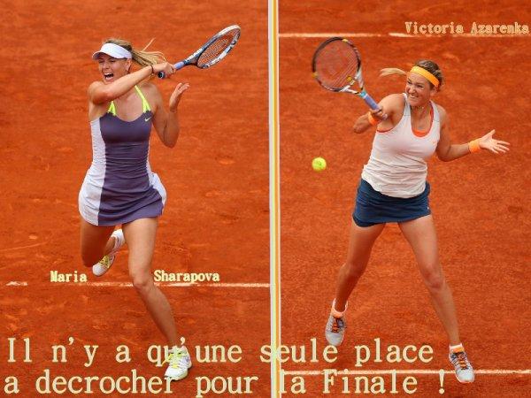 RG 2013 - Quart de Finale --> Mercredi 5 Juin, Azarenka et Sharapova se retrouveront-t-elles en demie-finale comme a l'US Open 2012 pour un match de gala ?