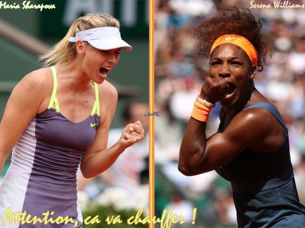 RG 2013 - Demie-Finale --> Jeudi 06 Juin, au programme, elles ne sont plus que quatre, les quatre meilleures du tournoi !
