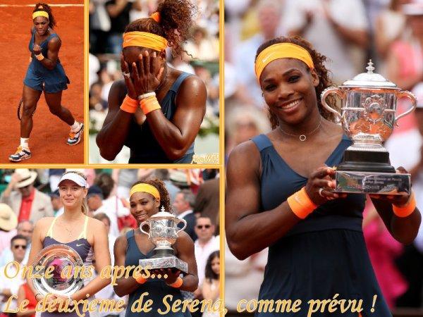 RG 2013 - la Finale --> Samedi 8 Juin, le doublé de Sharapova ou le deuxieme sacre de Serena apres 11 ans d'attente ?