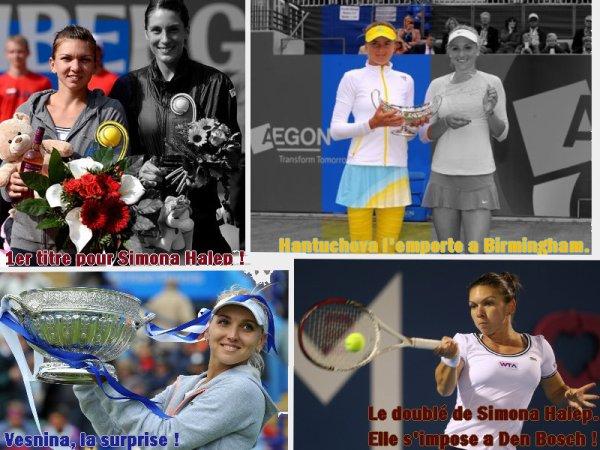 Résumé des tournois se déroulant du 10 au 22 juin 2013...