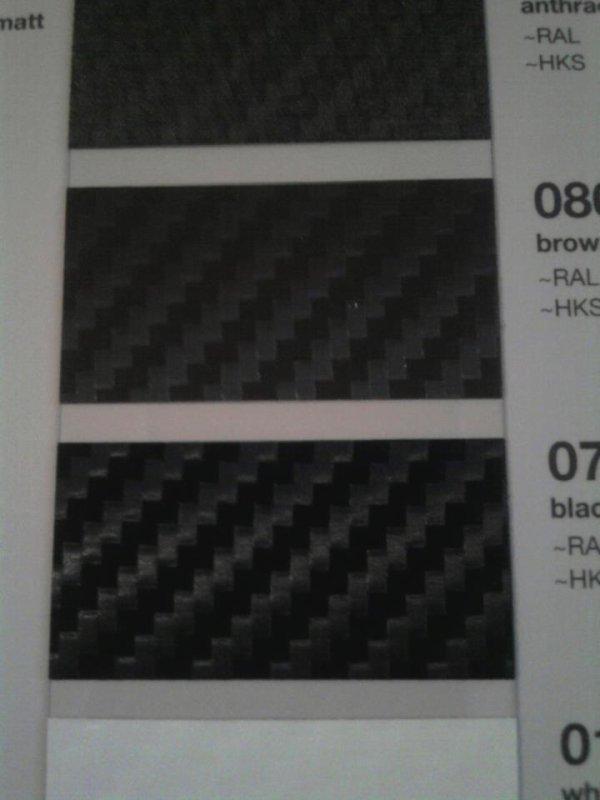 vinyl carbone ( 45¤ le m2 au lieu de 80¤ profitez en!!) et vitre teintées
