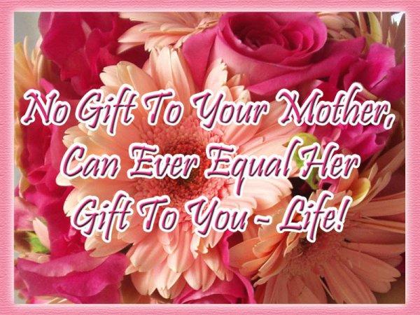 Bonne fête à toutes les mamans!!!