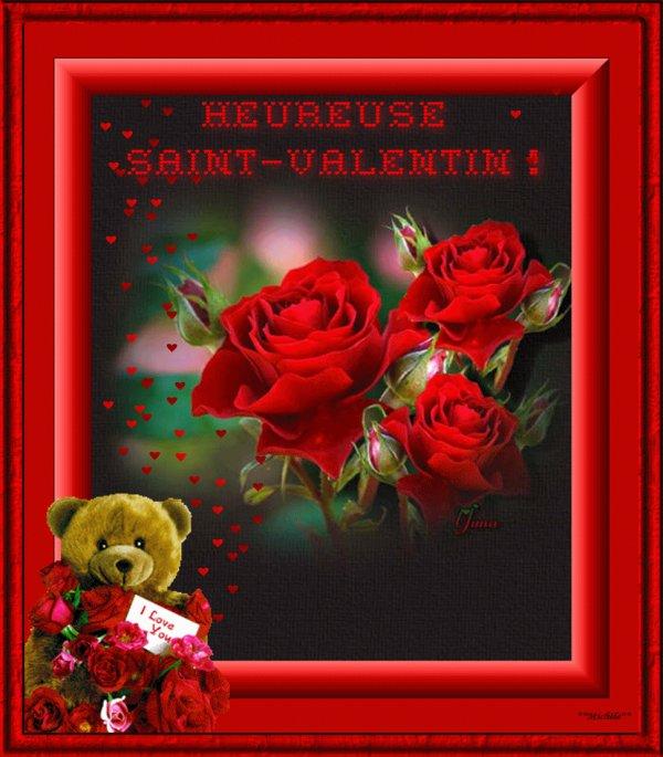 Bonne Saint Valentin aux amoureux et amoureuses