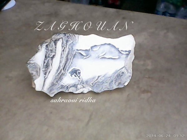 zaghouan mon dessin sur une roche