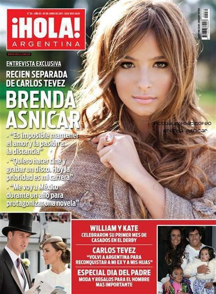 _ Brenda en couverture du magazine argentin  ¡hola!   _