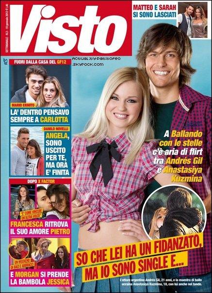 "_Andrès Gil & Anastasiya Kuzmina  (sa partenaire) flirt ensemble ?  _Article paru dans le magasine ""Visto"" cette semaine."