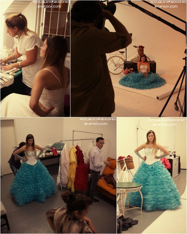 _ Photos Backstage du photoshoot d' Eva pour le magazine Tweens. _