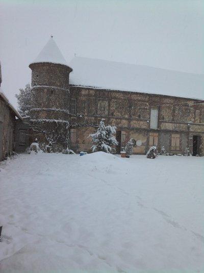 le chateau sous la neige