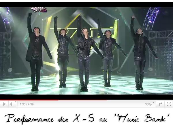 .News du 23 avril 2011: Les débuts des X-5 au célèbre Music Bank. .