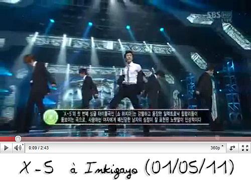 News du 1er mai 2011 : Débuts des X-5 au Music Core & à Inkigayo