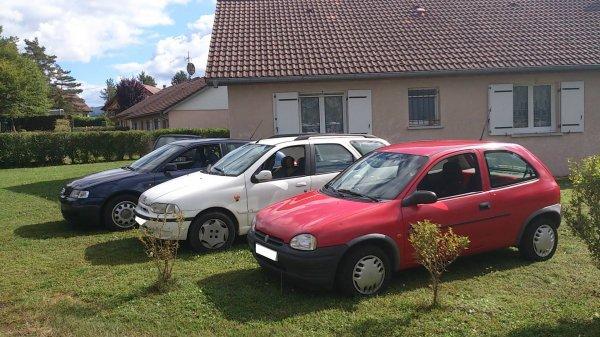 mes trois voiture