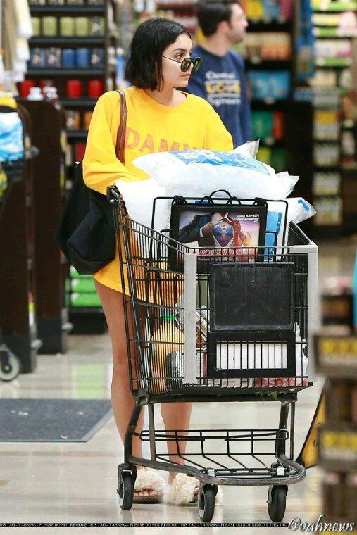 Vanessa fait des courses