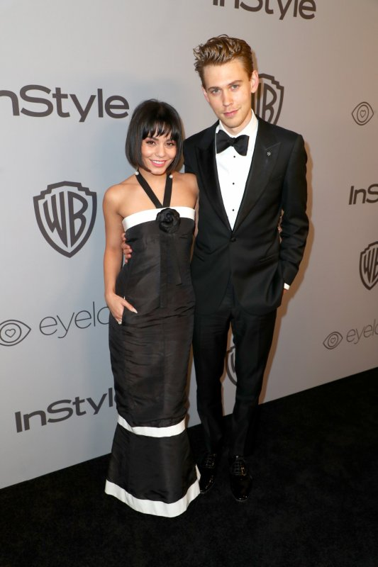 Vanessa assiste au golden globe party avec austin butler