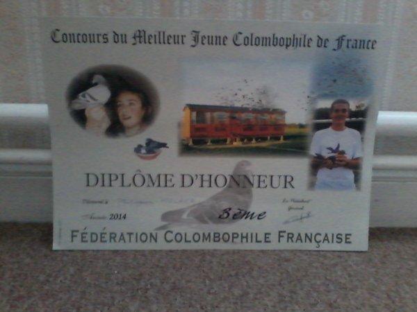 Concours du Meilleur Jeune colombophile 2015. Le Touquet