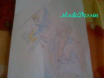 One Piece : Nami , Zoro . & L'équipage . Zoro & Luffy .