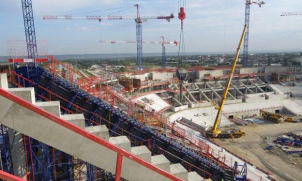 Le futur stade de L'olympique lyonnais
