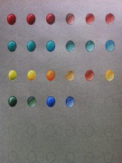 Palette de cabochon opaques et transparents