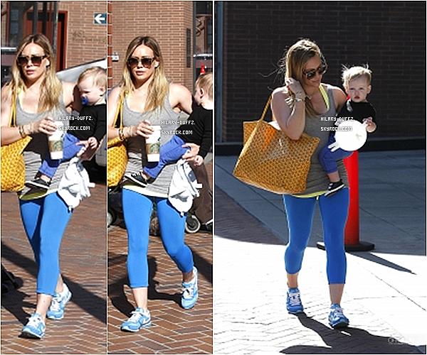 12 MARS 2013 - Hilary Duff a été vue dans l'après-midi se rendant au Babies First Class avec Luca dans Sherman Oaks