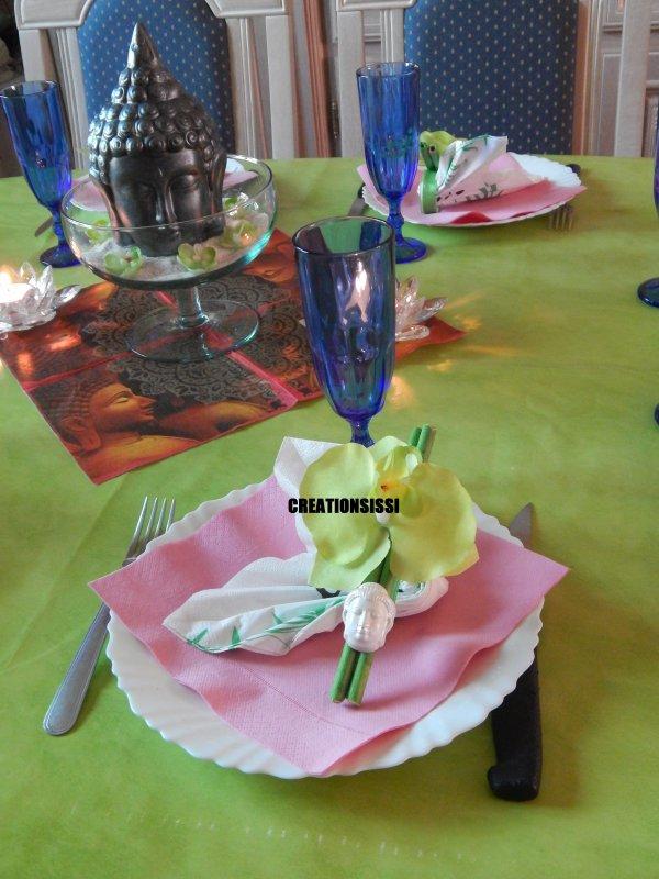 deco table aniverssaire de priscilla bouddha