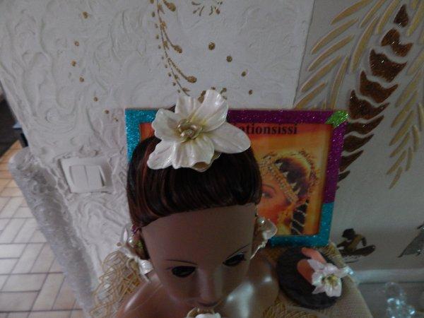 parure fait main fleurs orchidees