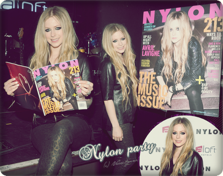 Avril et Nylon magazine en 2013